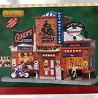Lemax Gordys Cycle Shop Motorcycle Building Retired 25383 Christmas Village