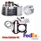 47mm Big Bore Metal Cylinder Kit for GY6 50cc to 80cc 4 Stroke Scooter Moped