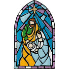 Felt Embroidery Kit Plaid Bucilla Stained Glass Nativity Wall Hanging 89271E