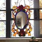 Tiffany Style English Country Stained Glass Window Panel Mirror ONE THIS PRICE
