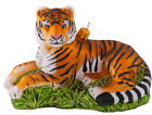 Tiger Resting India Lord of The Jungle Polish Glass Christmas Ornament 110226