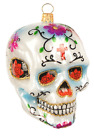 Mexican Skull Day of The Dead Halloween Polish Glass Christmas Ornament 110316