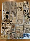 HUGE Lot Over 100 Rubber Stamps JRL Designs Inka different Styles NEW And Used