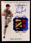 GREG MADDUX-2020 Flawless Sapphire (#7 7) 3-COLOR LOGO PATCH AUTO AUTOGRAPH 1 1