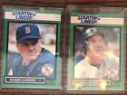 LOT of TWO 1989 Kenner starting lineup cards- WADE BOGGS & ROGER CLEMENS-Red Sox