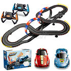 2 Controllers Remote Control Car Racing Track Set Electric Slot Race Stunt