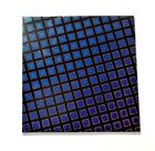 DICHROIC GLASS FANCY PATTERN 4 X 4 PIECE 90 COE Supply Fusing Fused BLACK BASE