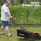 40V 16Inch Cordless Twin Force Lawn Mower With 2x2Ah Batteries  Charge US