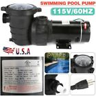 2HP 115V In Ground Swimming Pool Pump Motor High Flow w Strainer Filter Basket