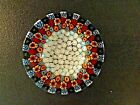 Murano Art Glass Italian Close Packed Millefiori OPEN SALT DIP Cellar Dish