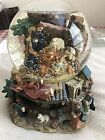 Large Christmas Musical Snow Globe w Revolving Nativity Scene The First Noel