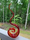 16 Murano Art Glass RED FLAME Sculpture GORGEOUS