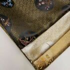 Oriental Chinese Embroidery Brocade Poly Silk Satin Oriental Floral Fabric 45