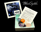 PISCES Zodiac Set of 6 Crystals + Gift Box Bag  Info Card Birth sign ZK23