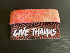 Give Thanks Zox Strap Reversible Wristband NEW Orange