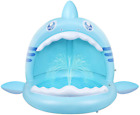 Baby PoolShark Splash Toddlers Swimming Pool with CanopyPortable Inflatable Ki