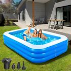 Inflatable Swimming Pool Blow Up Outdoor Indoor Pool for Kids with Electric Pump