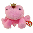 TY Beanie Baby - KISSABLE the Frog (6 inch) - MWMTs Stuffed Animal Toy