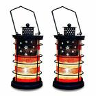 Patriotic Decorative Lantern Metal and Glass Candle Holder for July 4th Home 2