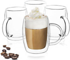 Double Wall Glasses 135 Ounce Insulated Mugs Double Walled Glass Cups For Coffe