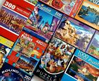 Lot of 12 Assorted Jigsaw Puzzles 240 1000 Pieces Fun and Colorful Mixed Lot