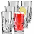 Clear Drinking Glasses Set Of 6 Durable Heave Base Glass Cups Ideal for Water