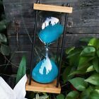 Vintage Nautical Glass Minute Square Wooden Metal Fillable Hourglass Sand Timer