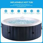 Inflatable Hot Tub Portable Spa Jacuzzi Built in Heater w Pump  Cover 4 Person