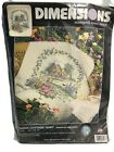 Dimensions Hollyhock Cottage Quilt Stamped Cross Stitch Kit 3216 Susan Noble