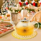 1000ml Glass Teapot for Stovetop Safe with Frosted Pattern THICKER Heat Resista