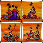 African Woman Themed Cushion Covers 18 x 18 45cm Set of 4 UK Africa Native