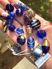 Murano Glass Beaded Necklace from Italy Hand Blown Glass Beads 17