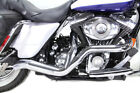 Chrome High Output 2 into 1 Exhaust Pipe Header Harley Touring Bagger 2007 2016