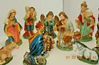 Vintage Walls US Patten Paper Mache Nativity set of 11pics made in japan