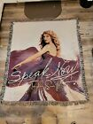 2010 TAYLOR SWIFT SPEAK NOW TOUR Woven Throw Blanket Tapestry Afghan EUC
