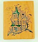 PSX Haunted House Wood Mount Rubber Stamp G 3312 Personal Stamp Exchange
