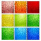 MaxGrain 6x6 inch Rainbow Transparent Textured Stained Glass Sheets Colored C