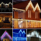 CHRISTMAS 96 216 432 648 86 LED ICICLE SNOWING XMAS OUTDOOR LED Fairy Lights