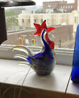 Collectible Vintage Gca Artglass Rooster 8 Tall
