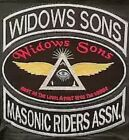 widows sons masonic embroidered iron on patches 1 pieces