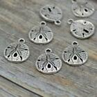 Sand Dollar Charms TierraCast Antique Silver Qty 4 20 Beach Shell Charms