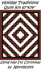 Holiday Traditions Log Cabin Hay Its Christmas Quilt Kit 67x79 by Northcott