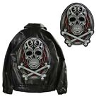 Embroidery Punk Skull Badges Patches DIY Iron On Men Jacket Back Applique