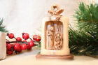 Handmade Christmas Holy Land Nativity Scenes Ornament Wood Olive Crafted Figure