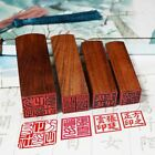 Japanese Chinese Name Stamp Custom Wooden Square Hanko Stationery Seal Stamps