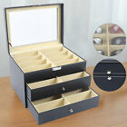 24 Slots Glasses Box Display Storage Case Organizer Leather For Sunglasses NEW