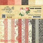Graphic 45 MON AMOUR 6 x 6 Paper Pad New Patterns  Solids