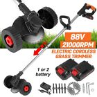 1200W Electric Weed Eater Lawn Edger Cordless Grass String Trimmer Cutter 88V US