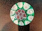 Vintage FRATELLI TOSO Murano Art Glass Paperweight Concentric Millefiori