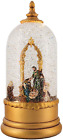 Victory Creative Christmas Nativity with Rotating Figure Lighted Water Globe Tab